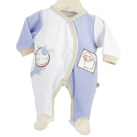 "Newborn sleepsuit ""Cow & Sheep"""