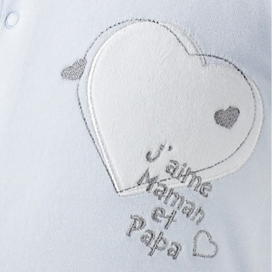 "Newborn sleepsuit  ""I love Mum and Dad"""