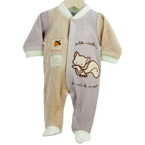 Newborn sleepsuit Little Hazelnut