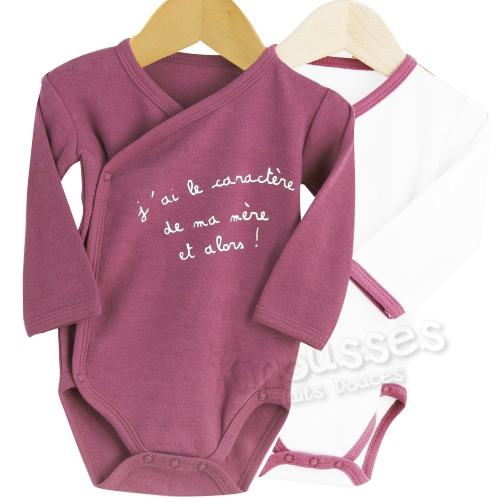 Lot de 2 bodies b b s crois s fille achat vente - Lot body bebe ...