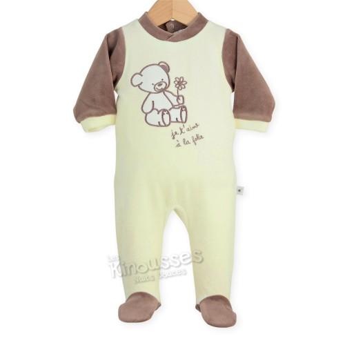"Baby sleepsuit ""I LOVE MUM & DAD"""
