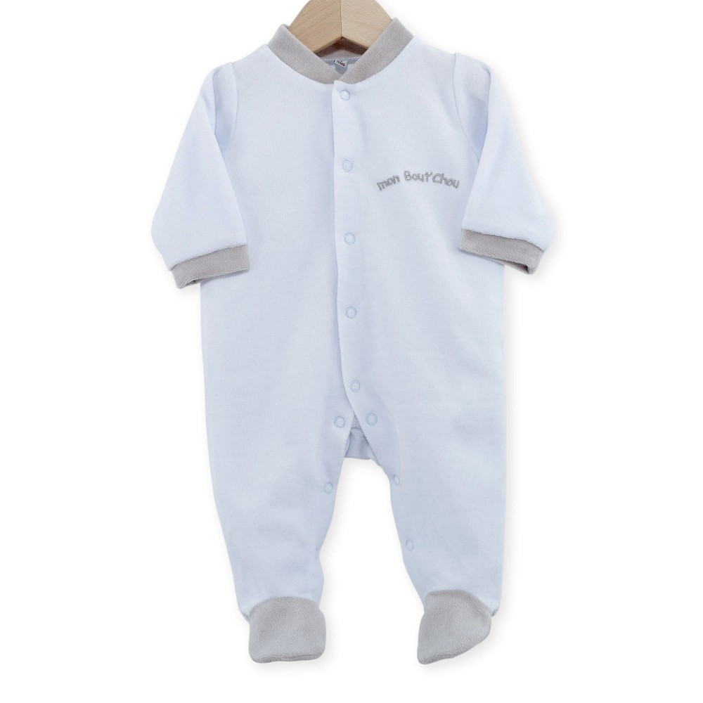 dors bien pyjama naissance gar on pas cher en velours kinousses kinousses. Black Bedroom Furniture Sets. Home Design Ideas