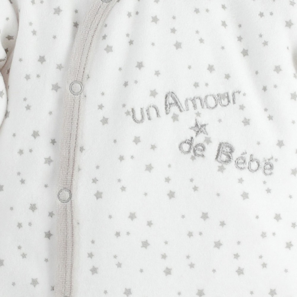 dors bien pyjama naissance b b en velours pas cher kinousses kinousses. Black Bedroom Furniture Sets. Home Design Ideas