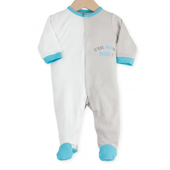 "Baby sleepsuit ""I'm the boss"""