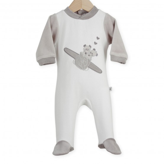"Baby sleepsuit ""Mouse Airman"""