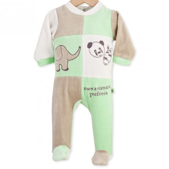 "Baby sleepsuit ""My favorite animals"""