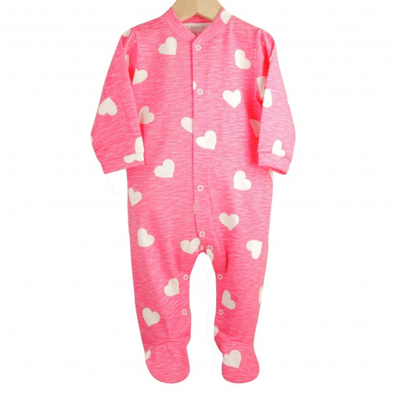 "Baby girl sleepsuit ""Hearts"""