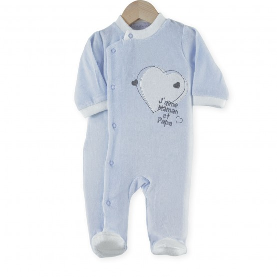 "Newborn sleepsuit ""I love Mummy and Daddy"""
