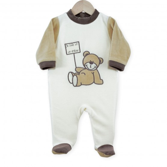 "Baby sleepsuit ""I'm a treasure"""