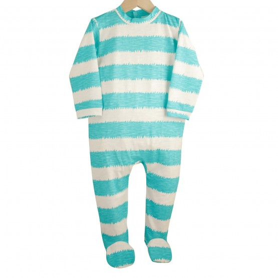 "Baby boy sleepsuit ""Stripes"""