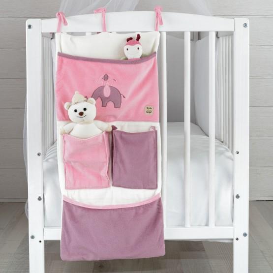 "Baby girl bed box  ""Elephant"""