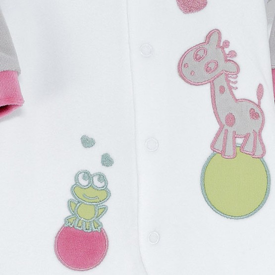 Baby girl sleepsuit « Princess & frog »