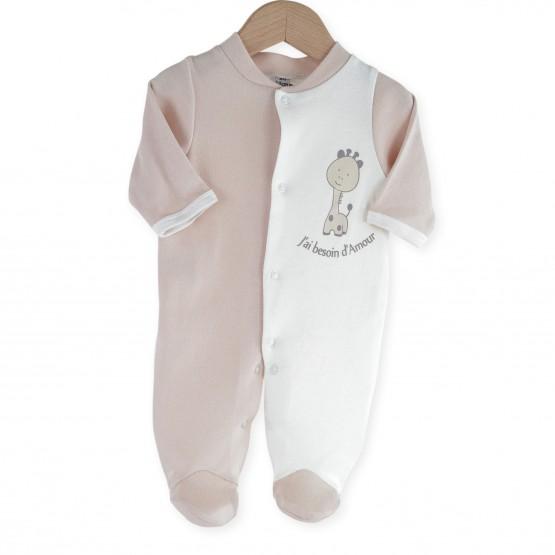 """Pyjama bébé coton """"Girafe"""""""