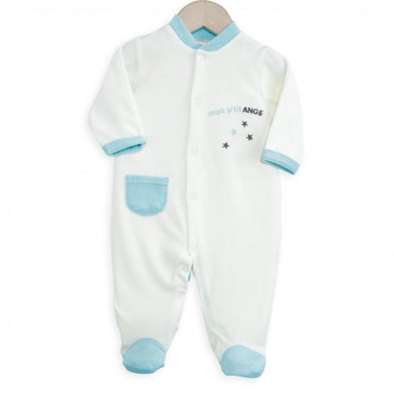 "Baby Boy Sleepsuit ""My little angel"""