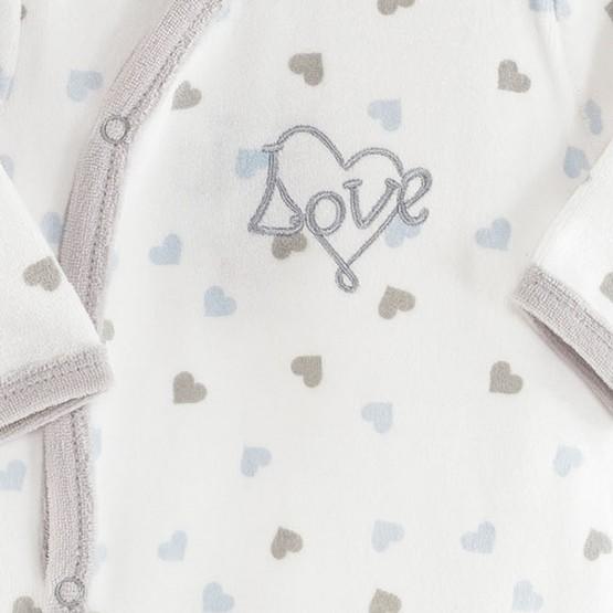 "Baby Boy Sleepsuit ""Love"""
