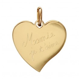 "Engraved Heart Pendant in gold plating ""Mum we love you"""