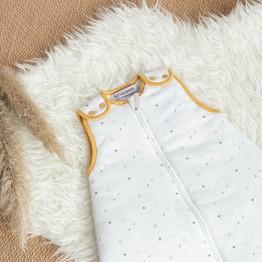 Completo lettino neonato - Dolci sogni - Bianco/ocra