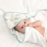Cape de bain bébé fille – Jungle vert d'eau