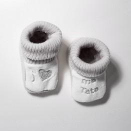 "1 paire de chaussons ""J'aime ma Tata"""
