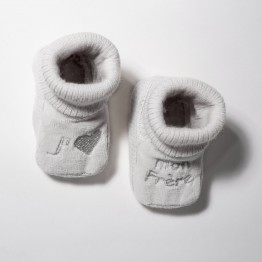 "Pair of baby booties ""I Love my brother """
