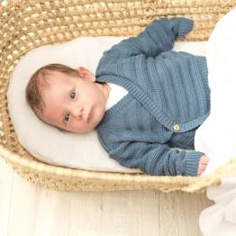 Organic cotton baby bra - Petrol blue