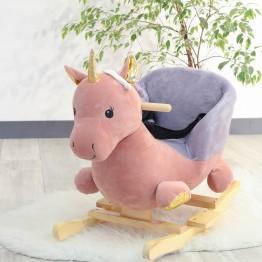 Unicorno a dondolo bambina