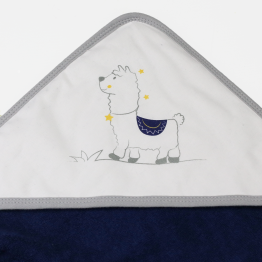Baby bath cape + face flannel - Lamam'Ours