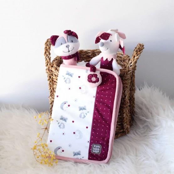 Protège carnet de santé fille - Kipic & Olga