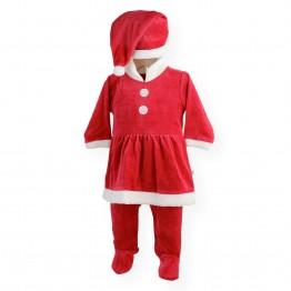 """Baby Girl Sleepsuit """"Mother Christmas"""""""