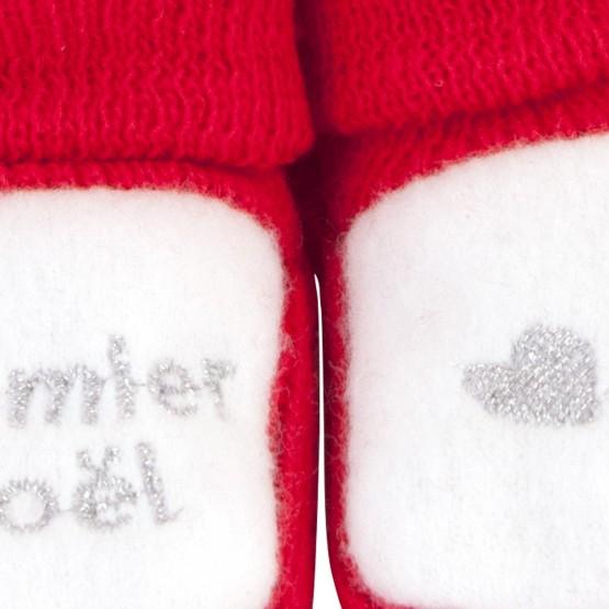 """1 paire de chaussons """"Mon premier Noël"""""""