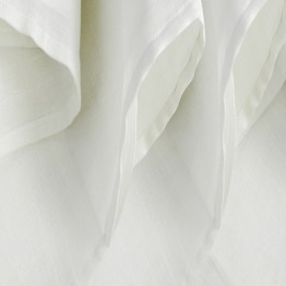 Pack of 3 white cloth nappies 115*115 cms