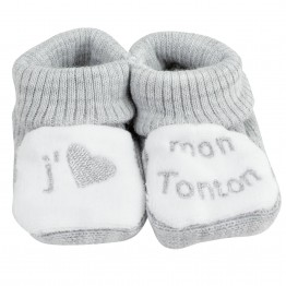"""1 pair of baby socks """"I love my uncle"""""""