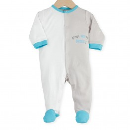 "Newborn sleepsuit ""I'm the boss"""