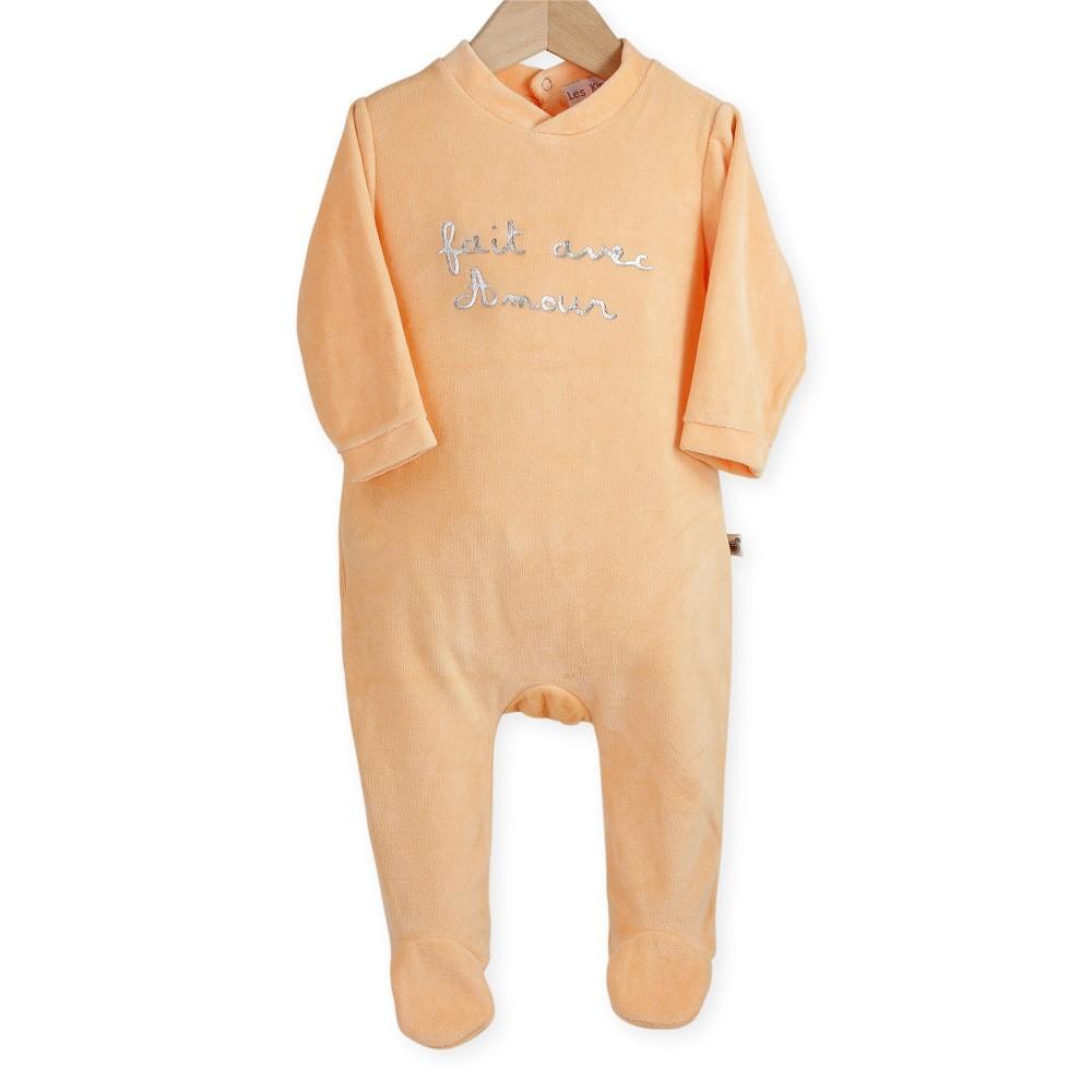 pyjamas b b en soldes par lot de 3 en velours kinousses. Black Bedroom Furniture Sets. Home Design Ideas