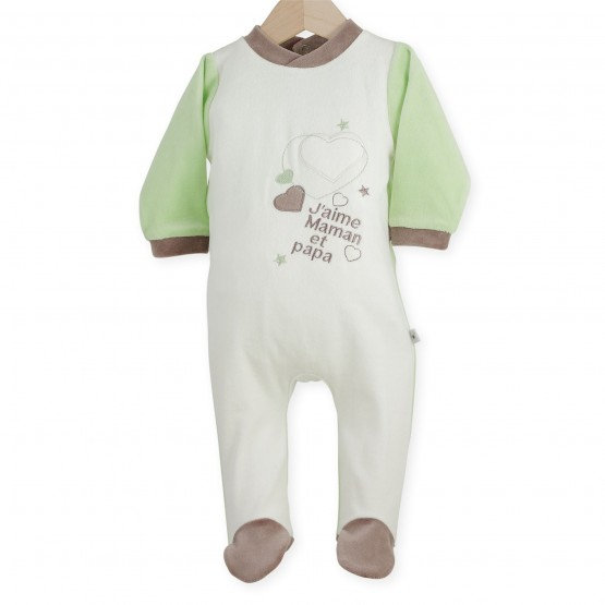 "Baby sleepsuit ""I love Mum and Dad"""
