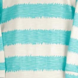 Pyjama bébé coton à rayures turquoise