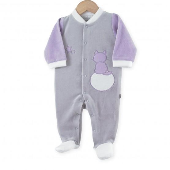 """Pyjama naissance fille """"Chats dans les étoiles"""""""