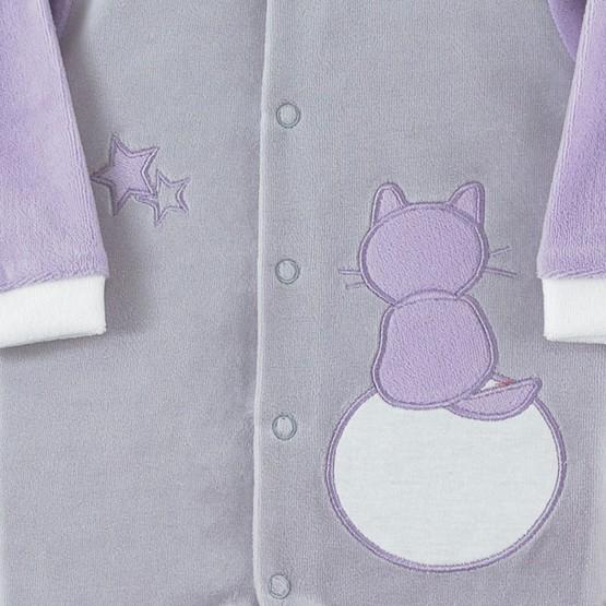 """Pyjama van velours """"poes tussen de sterren"""""""