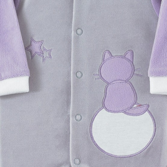 "Newborn sleepsuit ""Cats under the stars"""