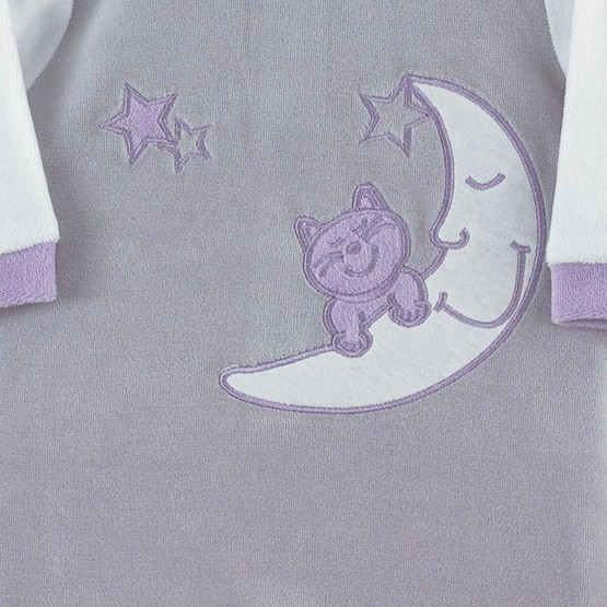 """Pyjama bébé """"Chats dans les étoiles"""""""
