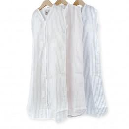 Lote de 3 saquitos de verano 100% algodón – 65 cm rayas rosas