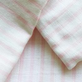 Lot de 3 gigoteuses bébé été 100% coton 65cms - rayures rose