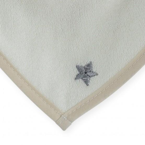 Newborn bandana bib - vanilla