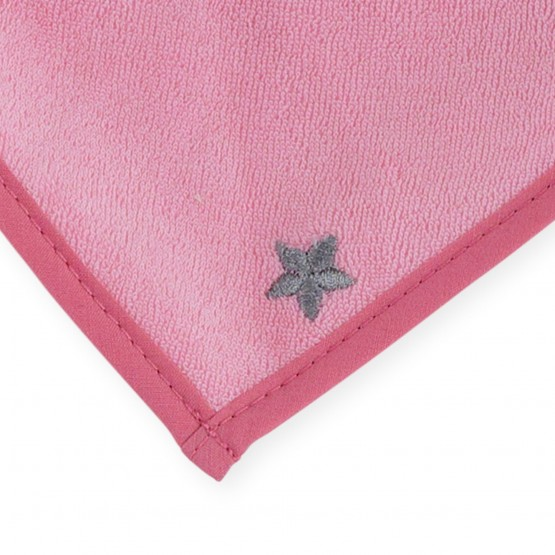 Bavaglino a bandana nascita- Stellina (rosa)