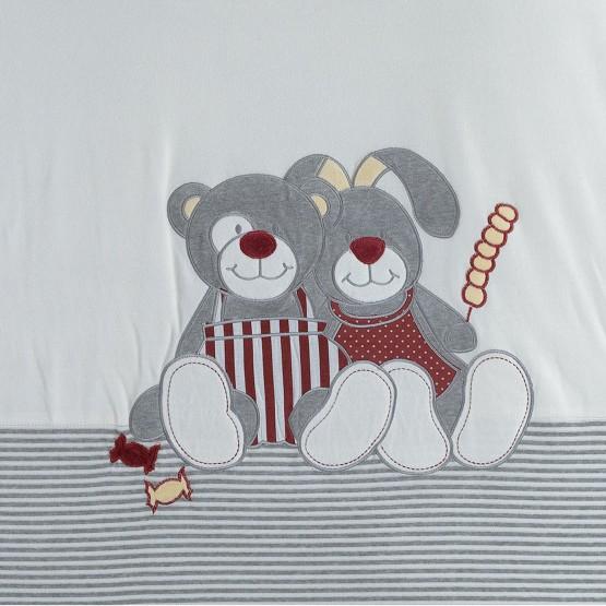 Tapis de parc bébé Nez Rouge 100x100 cm