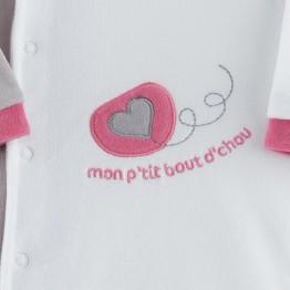 "Baby girl sleepsuit ""My little darling"""