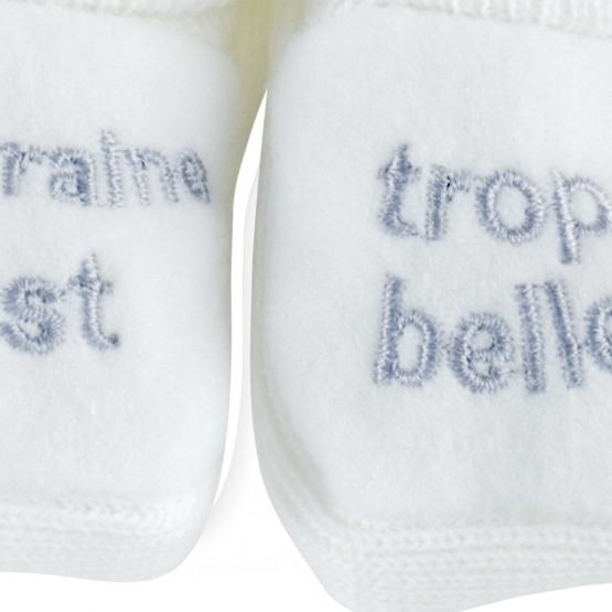 """1 paire de chaussons """"Marraine est trop belle"""""""