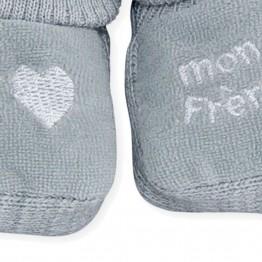 """1 paire de chaussons """"J'aime mon frère"""""""