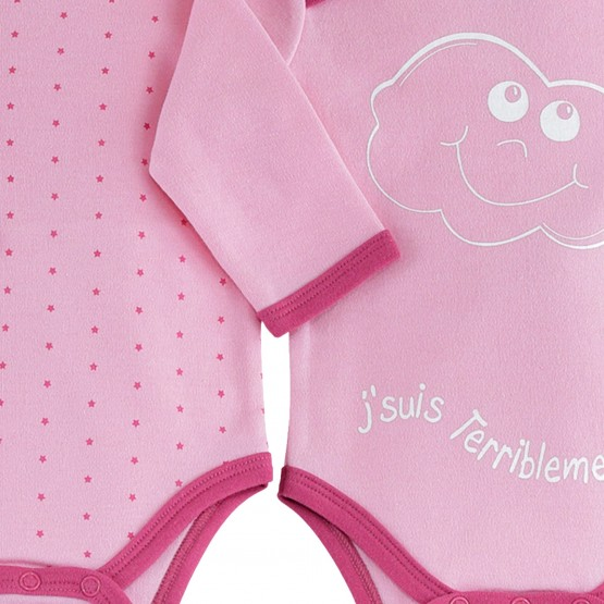 "Lot de 2 bodies bébé fille ""Terriblement belle"""