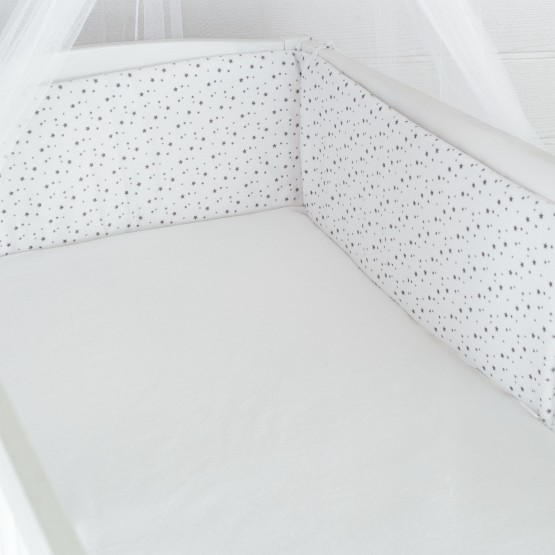 "Cot Bumper for High Base Position ""My little Stars"""